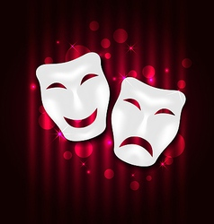 Comedy and tragedy theatre masks vector