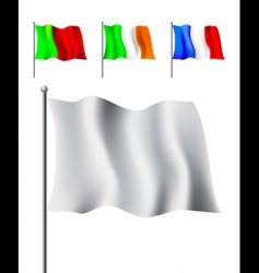 Colored flags vector