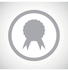 Grey certificate seal sign icon vector