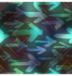 Computer matrix pattern on blurred background with vector