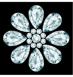 Flower gemstone composition vector