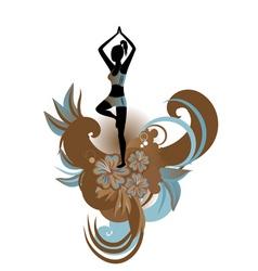Yoga floral vector