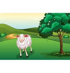 A smiling sheep vector