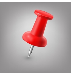 Red push pin isolated vector