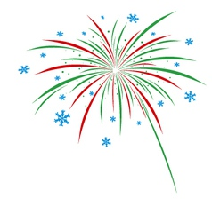 Christmas firework design on white background vector