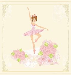 Beautiful ballerina - abstract card vector