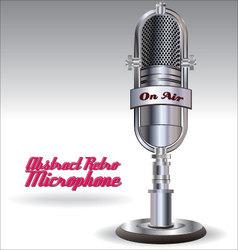 Abstract retro microphone vector