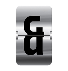 Alphabet silver flipboard letters and vector