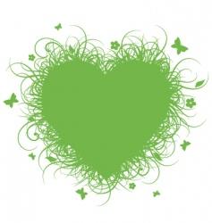 Grass heart vector