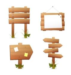 Wooden signs set vector