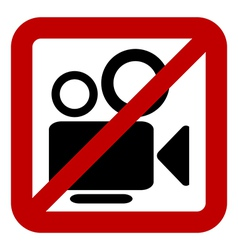 Sign of prohibition of photo camera vector