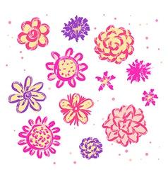 Doodle sketch flowers vector