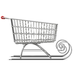 Supermarket sleigh vector