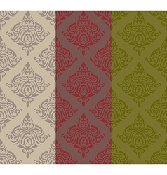 Three tone classic pattern vector