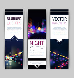 City banner vertical vector