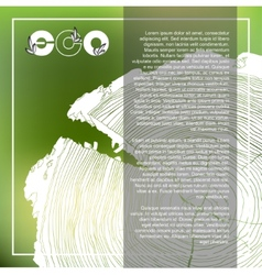 Eco poster with logo and annual tree growth rings vector