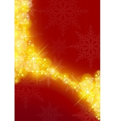 Starry xmas background vector