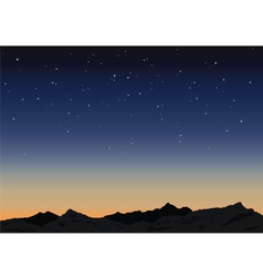 Sky and mountains vector