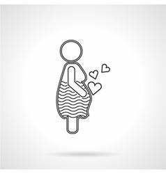 Flat line icon for motherhood vector