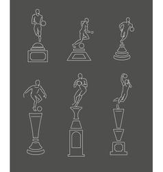 Sport trophy vector
