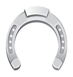 Metallicsilver horseshoe vector