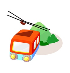 Icon cable car vector