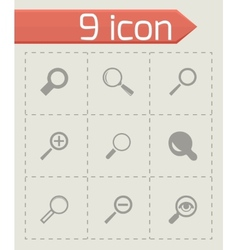 Magnifying glass icons set vector