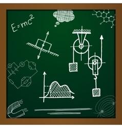 Chalk draw phisics elements vector