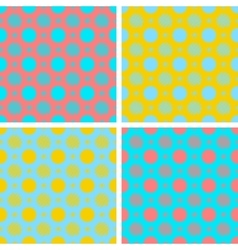 Set abstract seamless pattern for vector