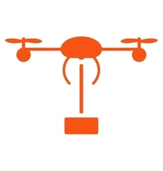 Copter shipment icon vector