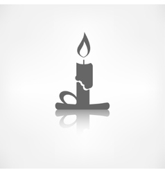Candle web icon vector