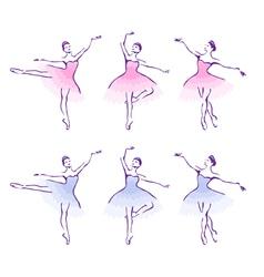 Ballet woman-dancers vector
