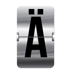 Alphabet silver flipboard letters a umlaut vector