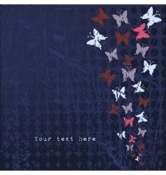 Grunge butterflies vector