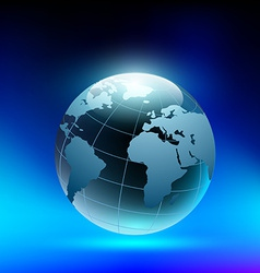 Planet earth in the form of a crystal ball vector