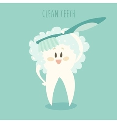Clean the healthy white teeth vector