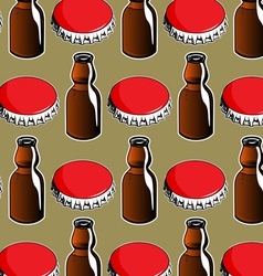 Steel red cover and glass bottle background vector