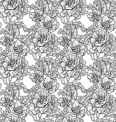 Seamless pattern of decorative black and white pop vector