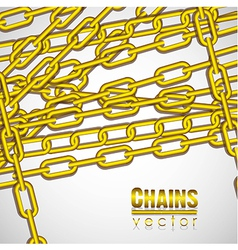 Gold chains superimposed on a white background vector