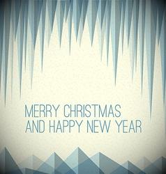 Retro minimalistic christmas card vector