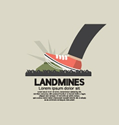 Foot step on landmines vector
