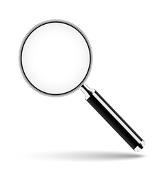 Magnifying glass with transparent glass vector