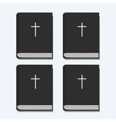 Bible on white background vector