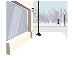City street scene vector