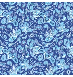 Blue fresh indian pattern vector