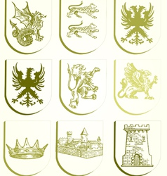 Heraldry set vector