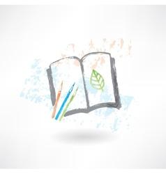 Notebook eco grunge icon vector