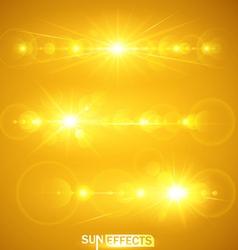 Sun effects vector