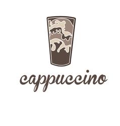 Concept cappuccino vector
