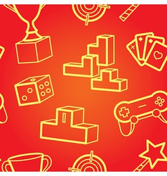 Game seamless pattern vector